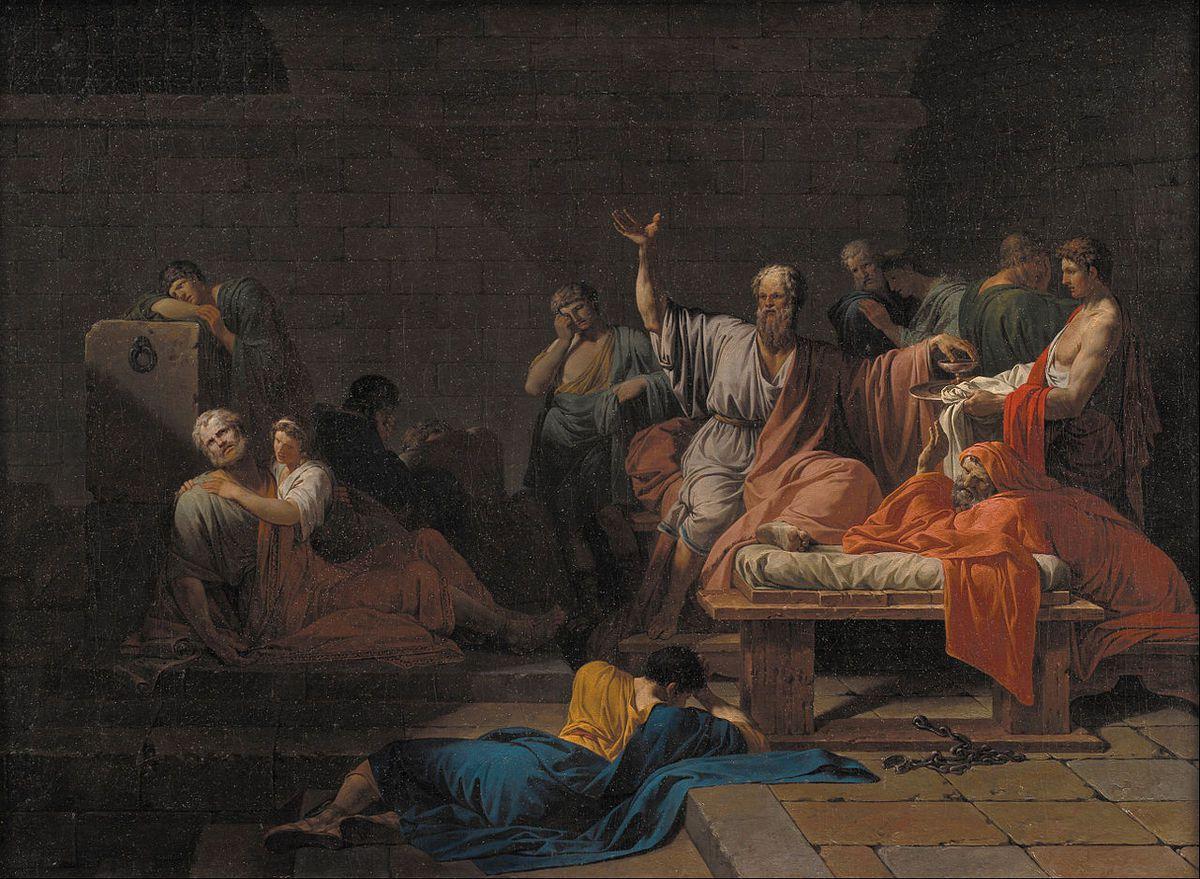 La Mort de Socrate de Pierre Peyron