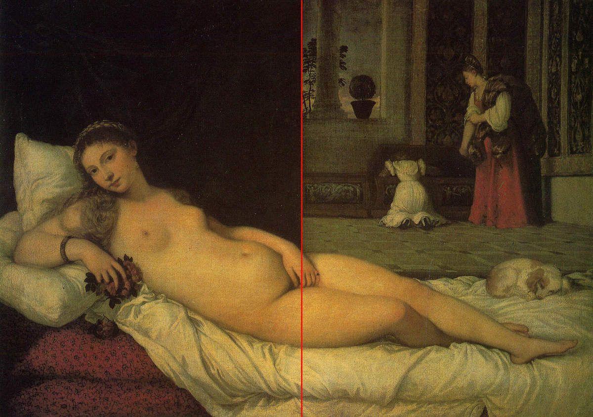Venere di Urbino 165 cm × 119 cm Galleries des Offices, Florence