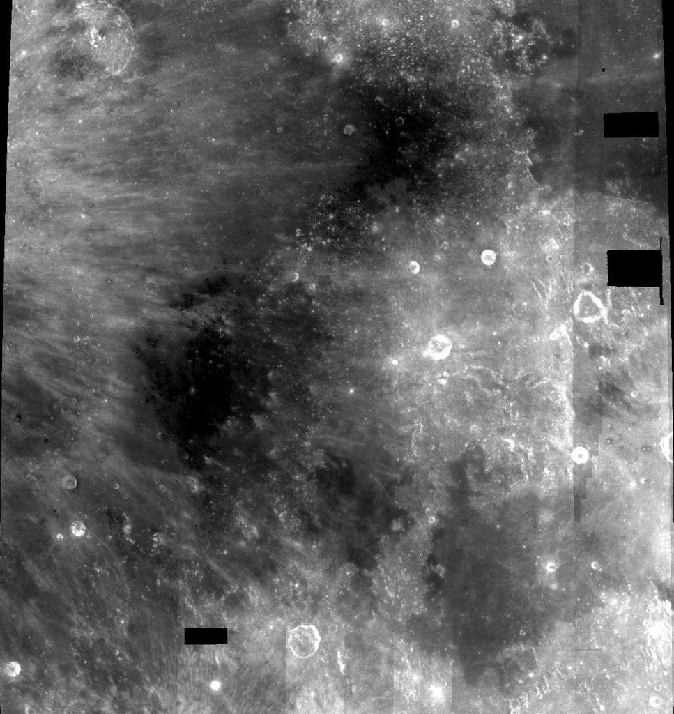 Sinus Medii, à partir de photographies de la sonde Clementine...