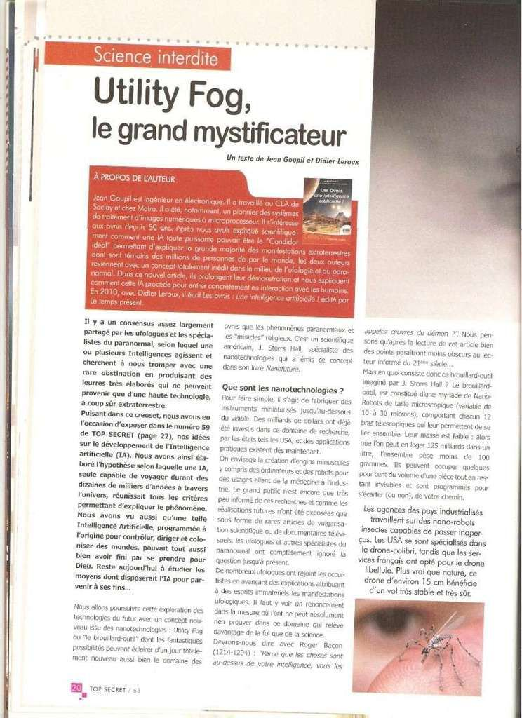 Utility Fog : le grand mystificateur invisible… !