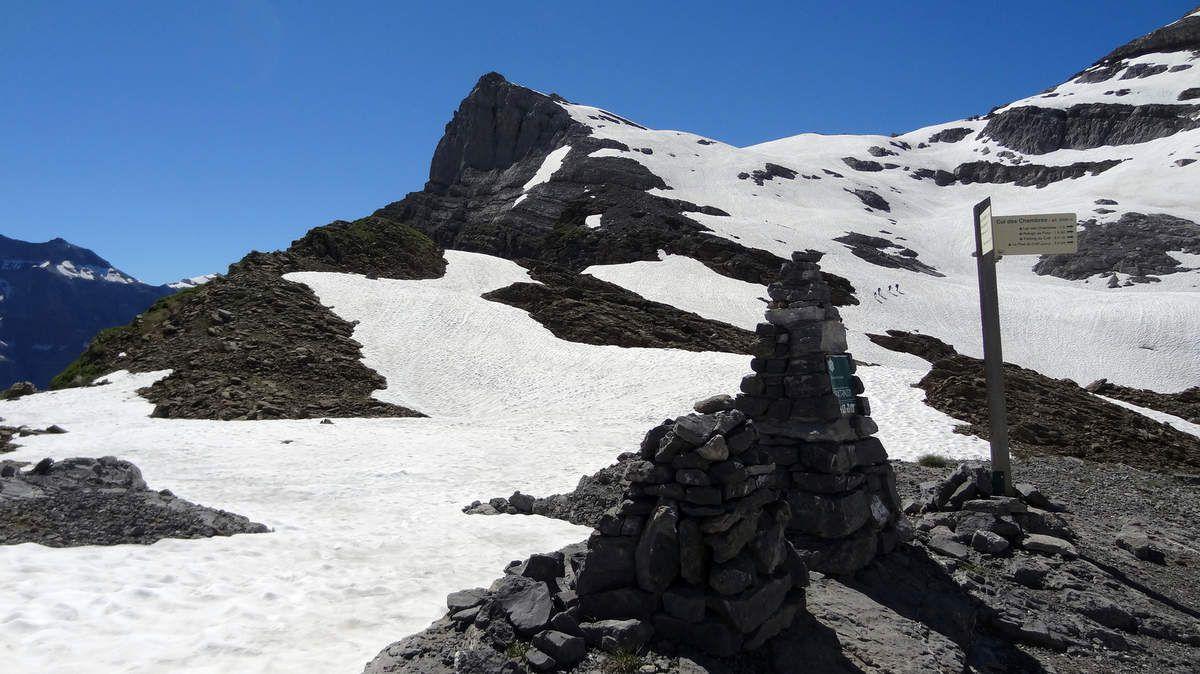 La Pointe de Bellegarde vue depuis le Col des Chambres