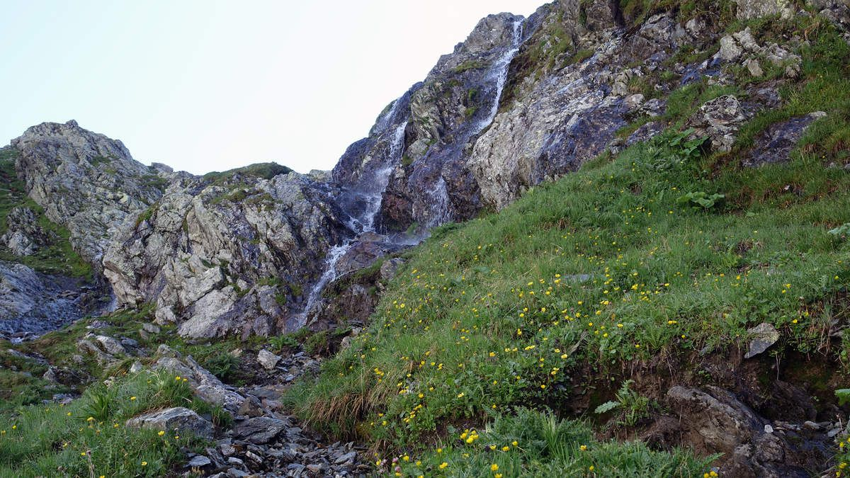 Passage de la cascade........