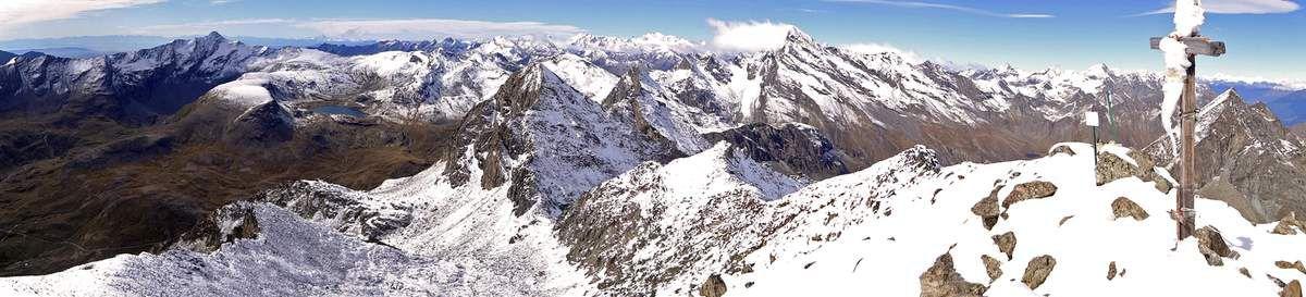 Panorama du sommet, vue sur le Col Fussy, Lac Miserin...
