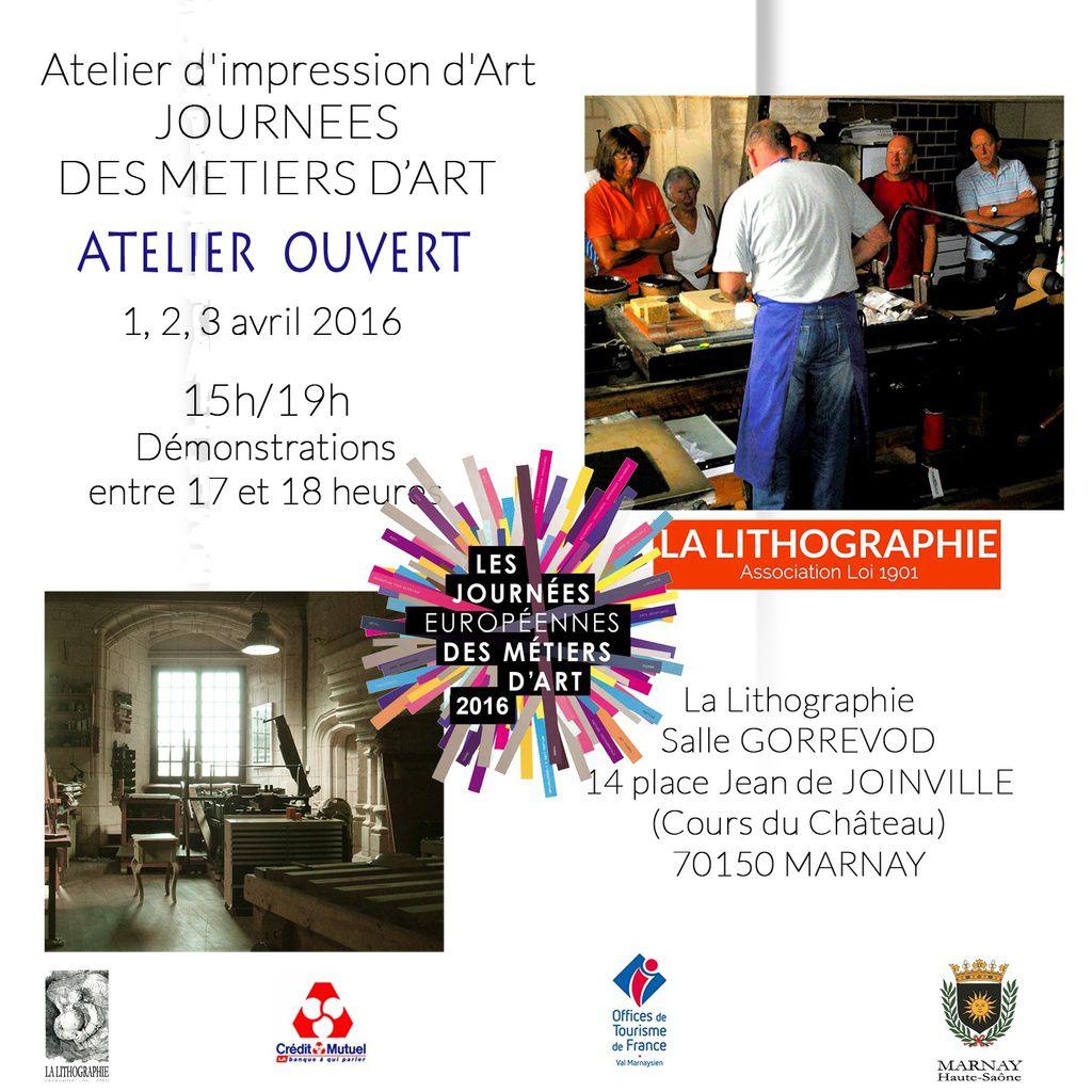 Journées  des métiers d'art : 70150 MARNAY 3 Avril 2016-03-30 de 15 à 19 heures Cours du Château