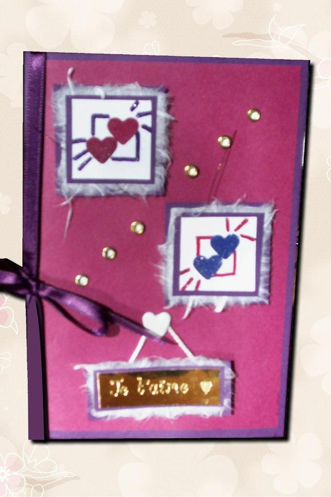 Carte St Valentin pour mon amoureux...