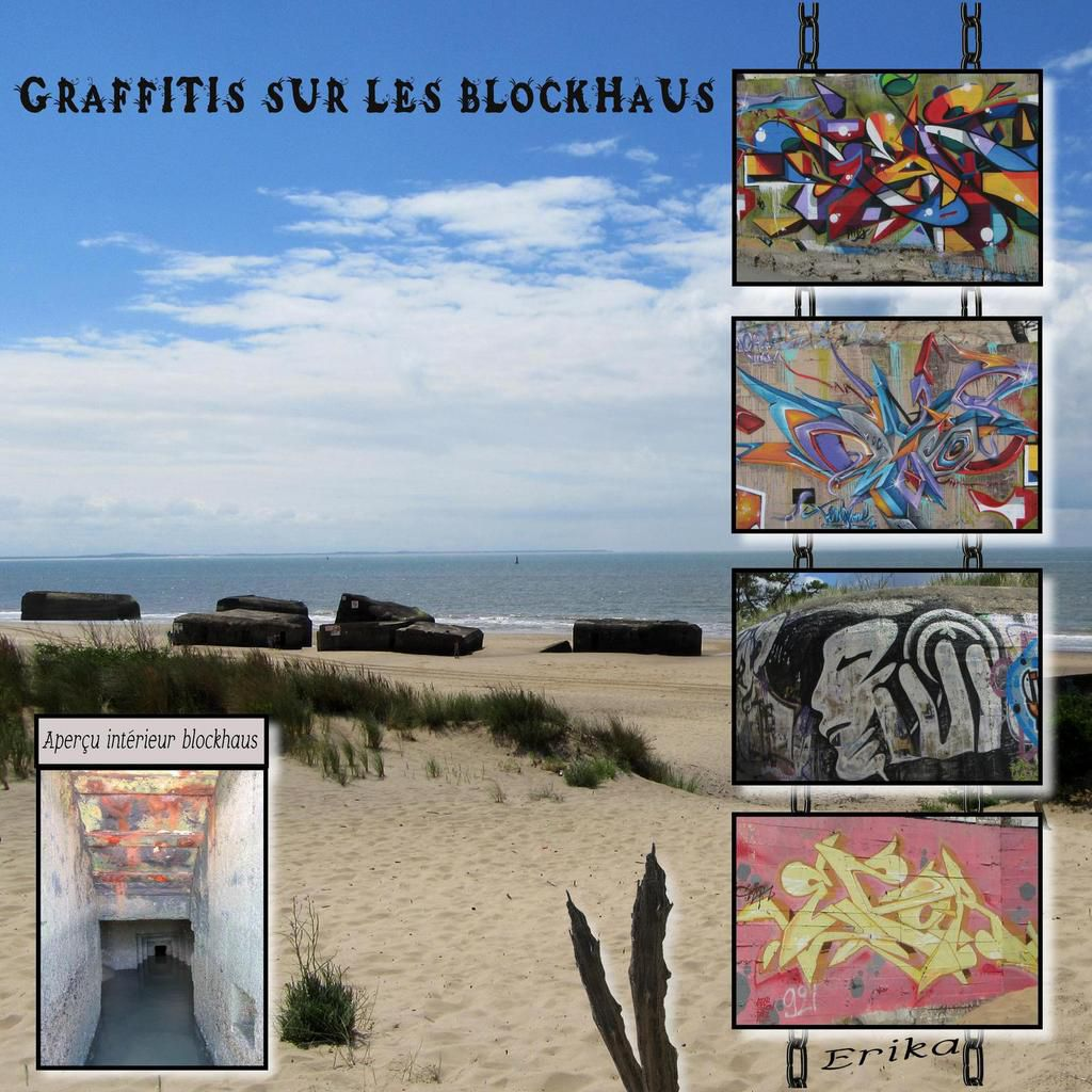 Les blockhaus et batteries de la grand plage...