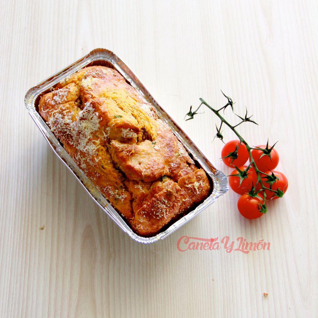 Cake tomates séchées et basilic