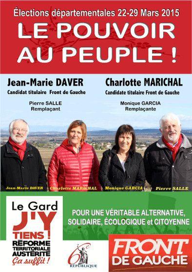Canton de Pont : les candidats aux départementales du Front de Gauche mènent une campagne active