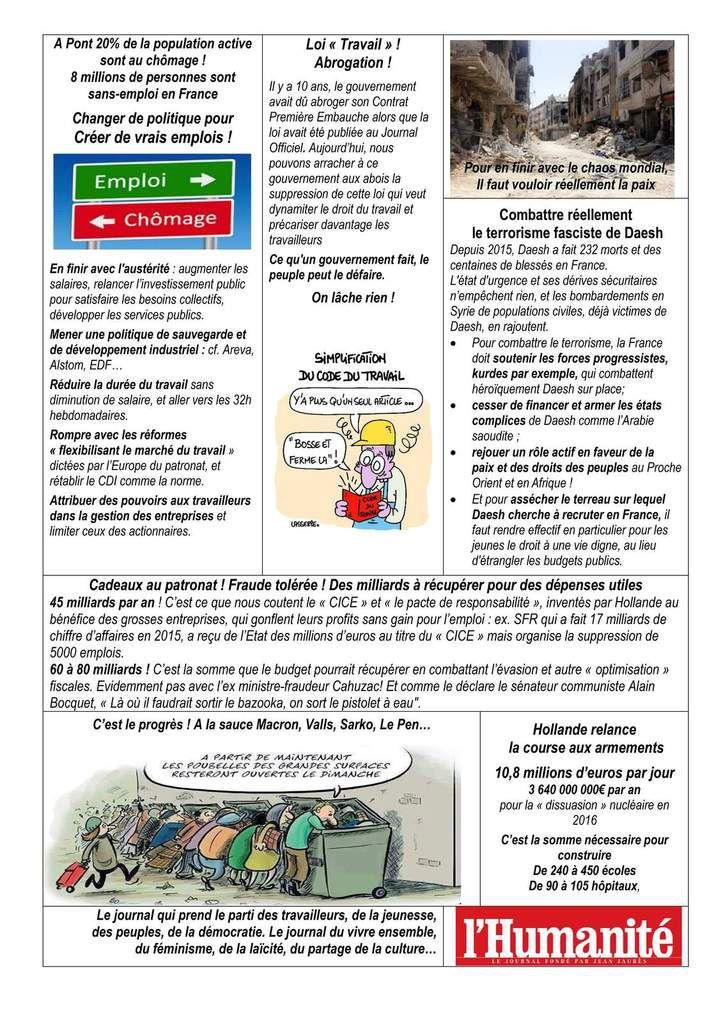 Le journal des communistes de Pont Saint Esprit et des villages environnants