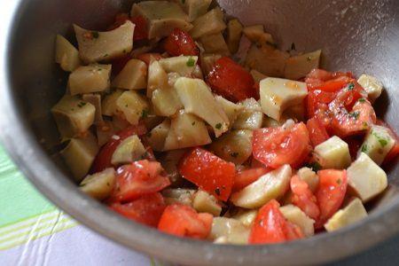 Recette facile : salade tomates et coeurs d'artichaut