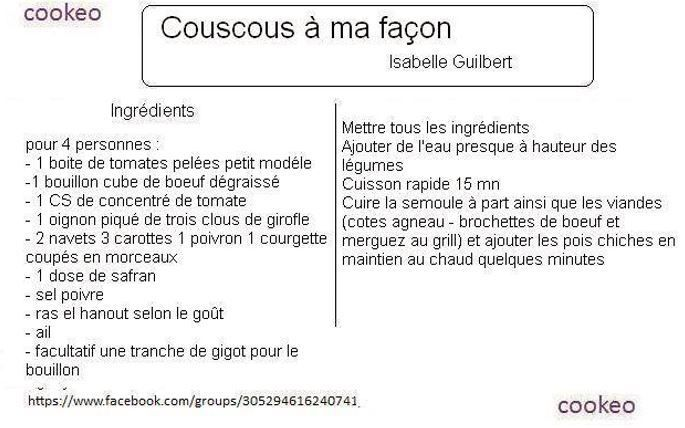 Couscous au cookeo