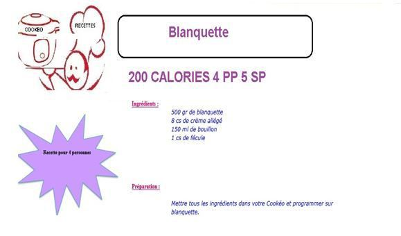 Blanquette weight watchers cookeo