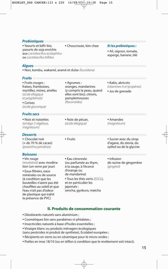 Liste des courses anticancer