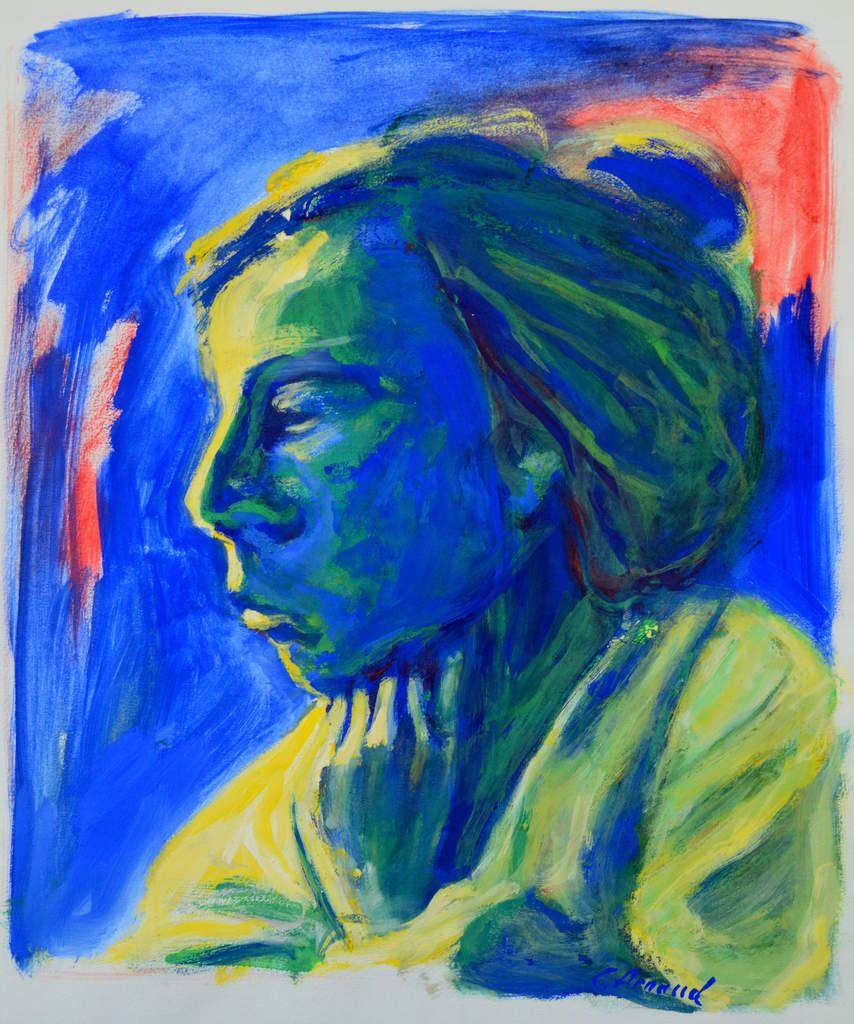 La Mélancolie (Melancholy, Egg Tempera Painting On Paper) Peinture Détrempe  ...