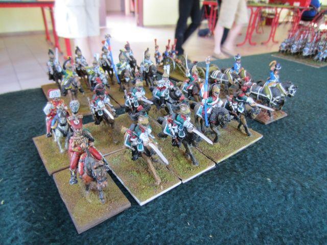 La cavalerie française culbute le flanc prussien!