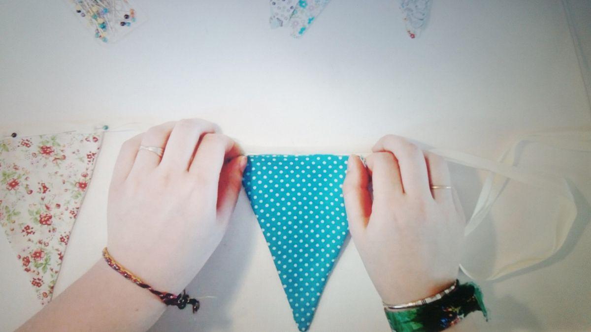 DIY couture : Guirlande de fanions + vidéo Youtube