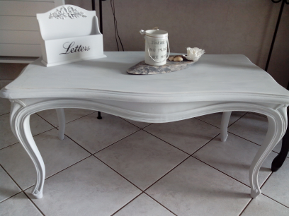 Table Basse Shabby Chic Creation De Lampe
