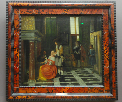 Card Players in an Opulent Interior by Pieter de Hooch