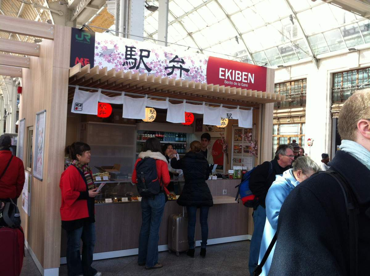 Ekiben shop in Gare de Lyon Paris