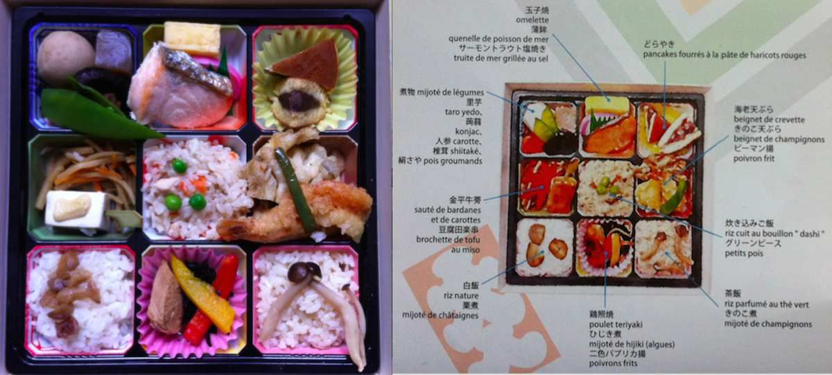 Makunouchi bento with description