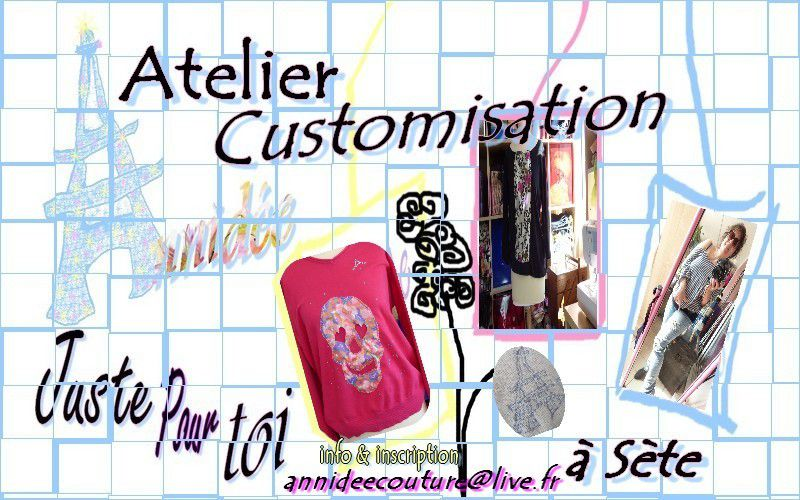 Atelier customisation d annidee à Sète