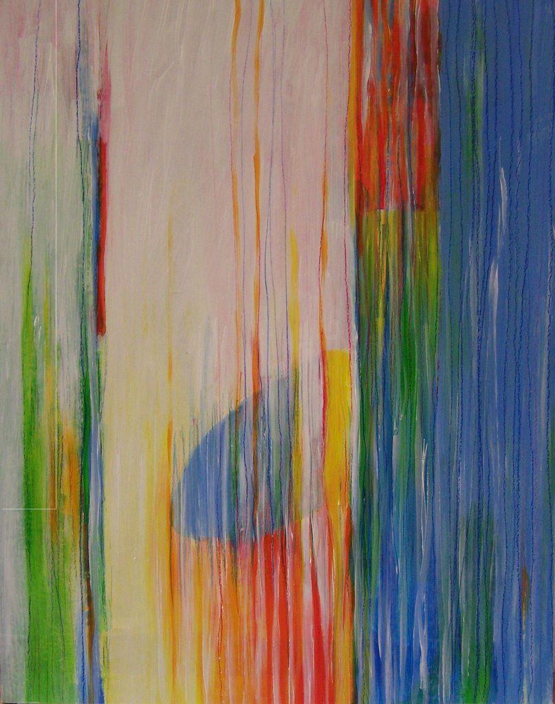 Sans titre , painture sur papier marouflée sur bois , 79X61