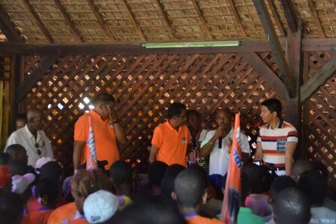 Andry Rajoelina à Nosy Be, le 27 juillet 2015. Un peuple au parfum du MAPAR