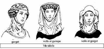 coiffures de femmes XIVème siècle