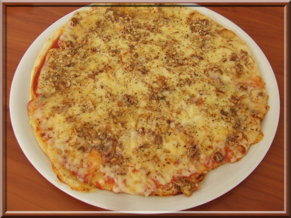 Pizza cantal noix...