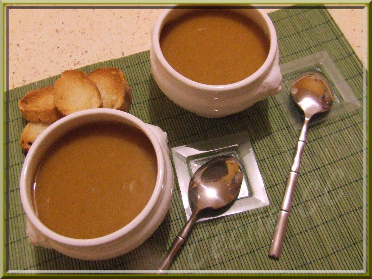 Soupe potiron et champignons...