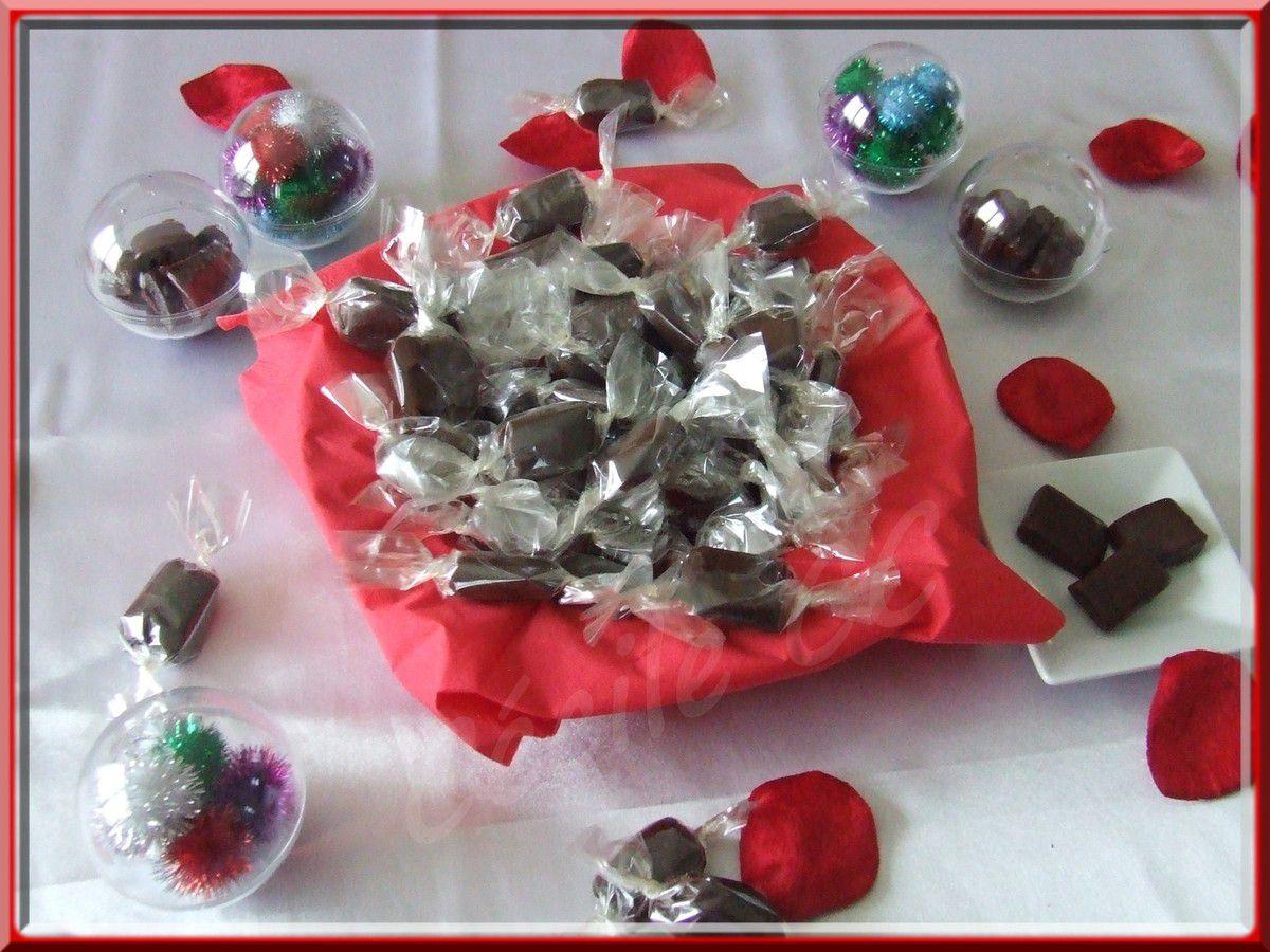 Les caramels mous au chocolat....