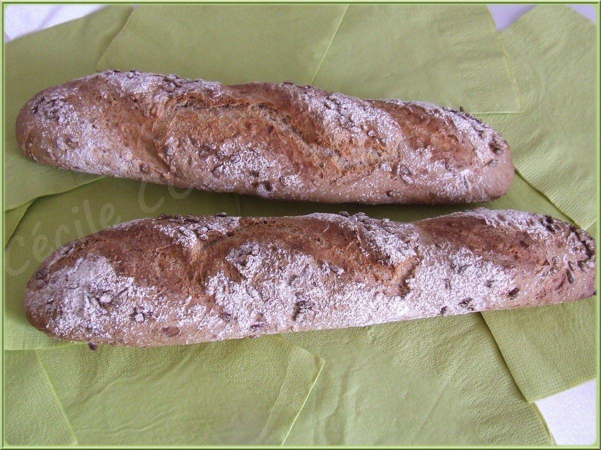 Baguettes rapides blé, épeautre, graines de tournesol...