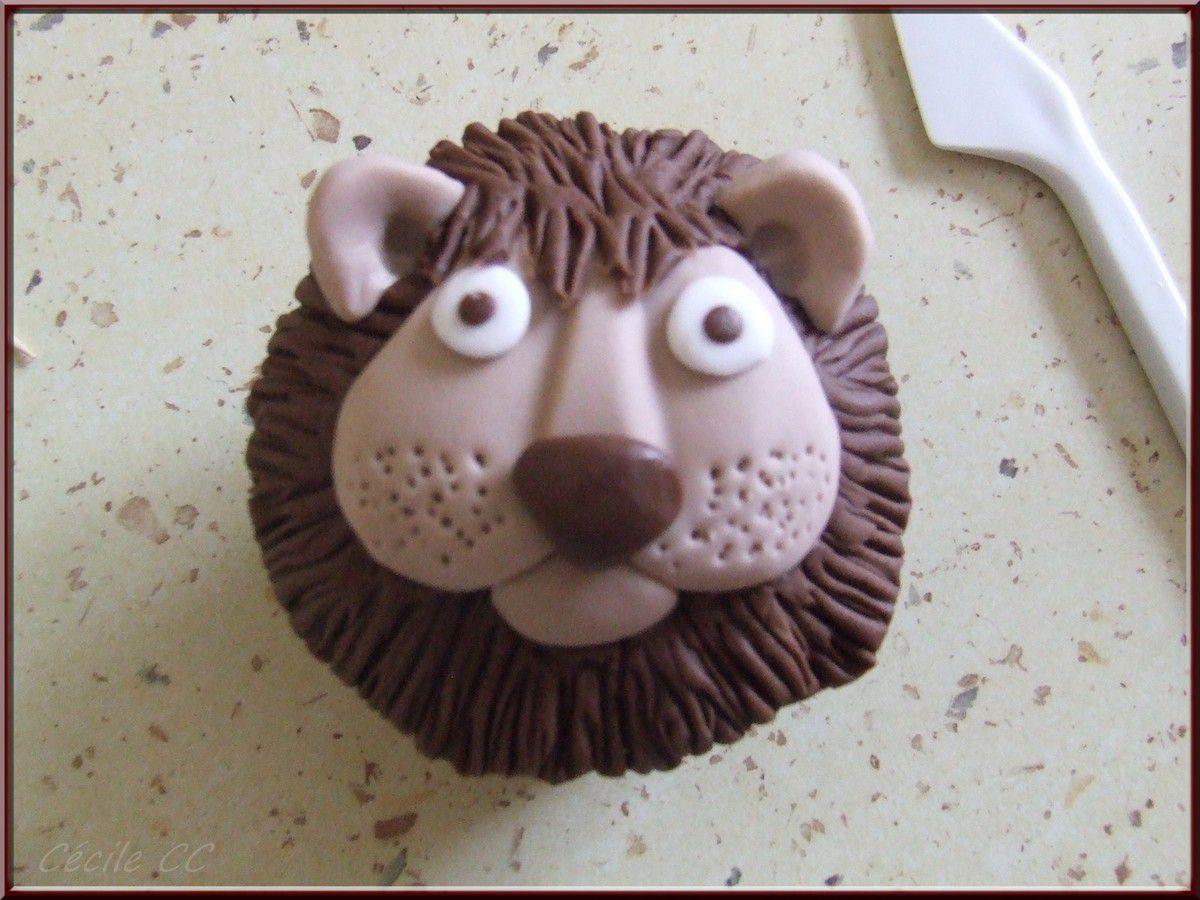 Tutoriel cupcake tête de lion...