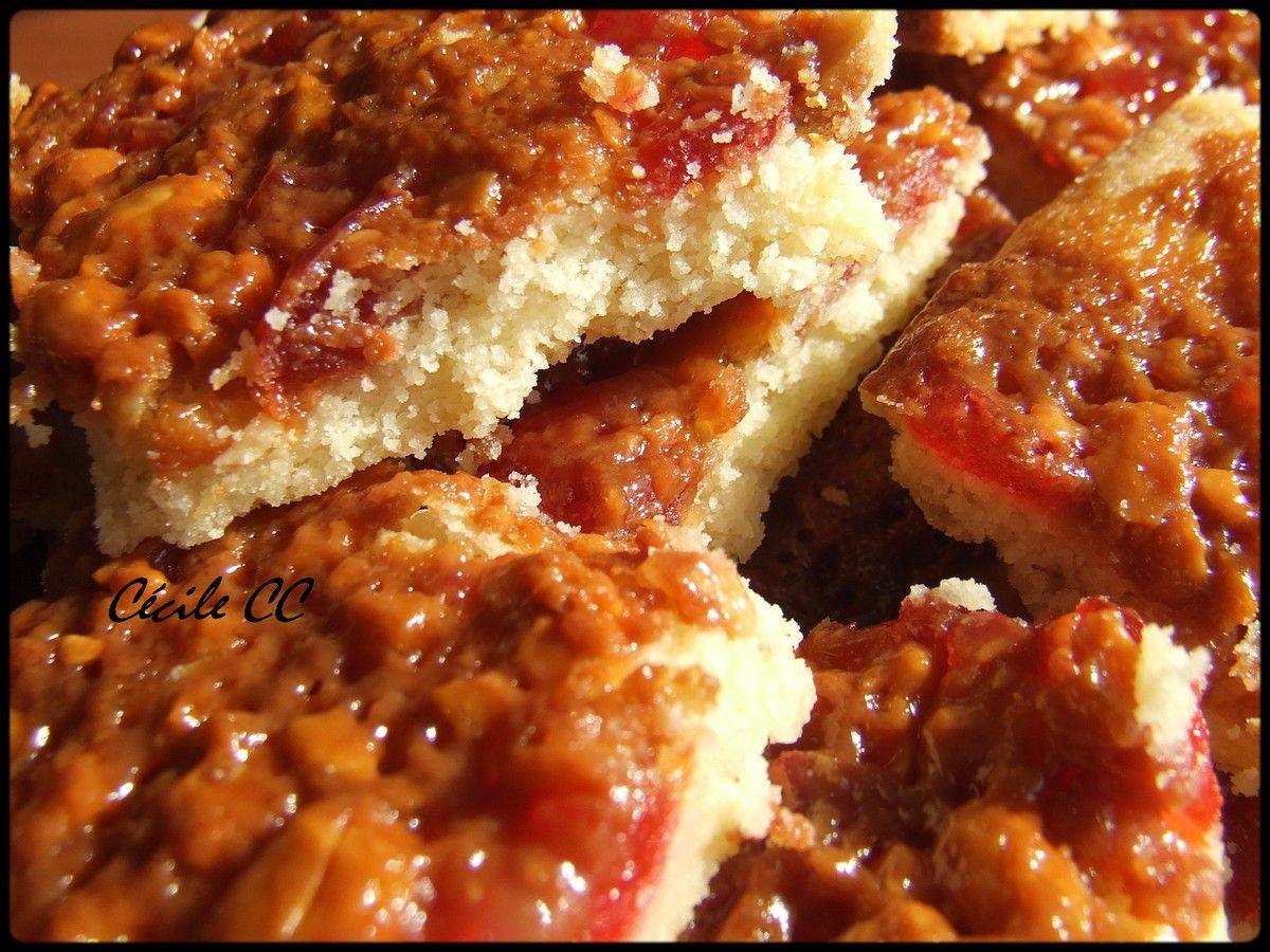 Biscuits moelleux amandes et cerises confites