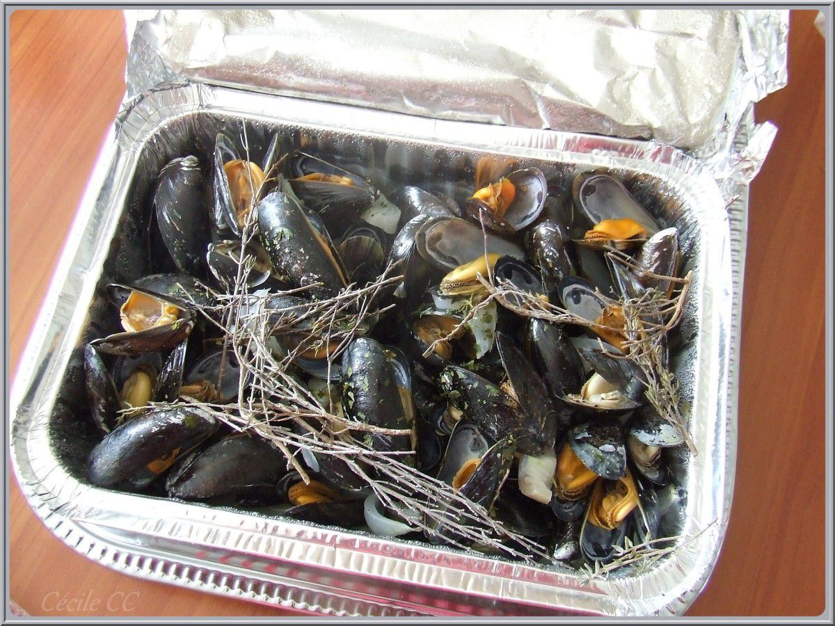 Moules au barbecue...
