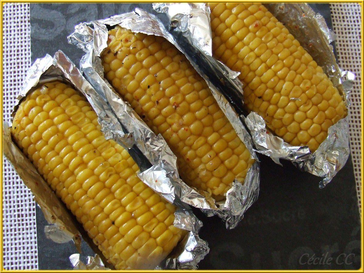 Epis de maïs en papillote au barbecue