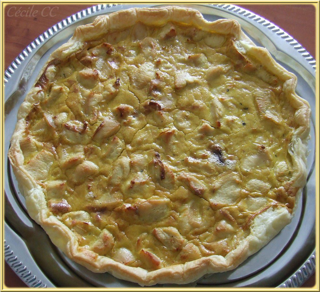 Quiche poulet, coco, curry...