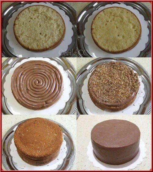 Sponge Cake Avec Ganache