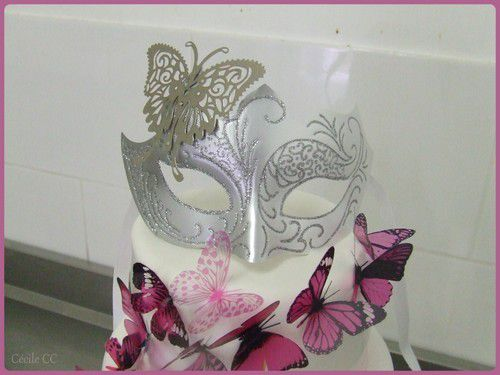Wedding cake papillons...