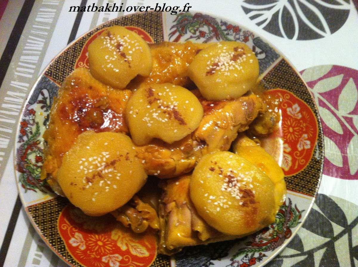 tajine de poulet et pomme