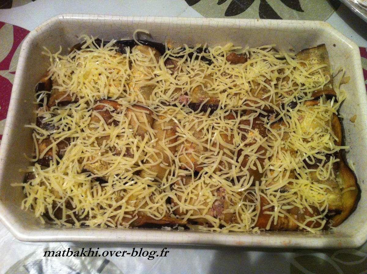 gratin aubergine et viande hachée