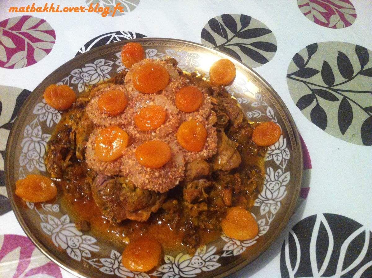 tajine de dinde à l'ananas et abricot
