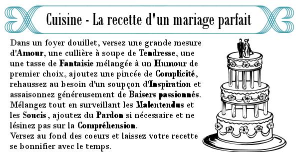 Idées pour le mariage