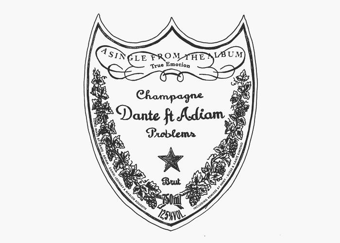 VIDEO / DANTE - &quot&#x3B; CHAMPAGNE PROBLEMS &quot&#x3B; feat ADIAM