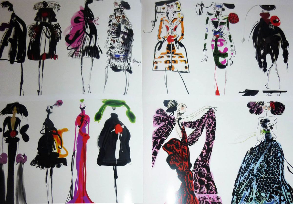 A MASTER OF FASHION &amp&#x3B; ILLUSTRATION / MONSIEUR CHRISTIAN LACROIX SKETCHES