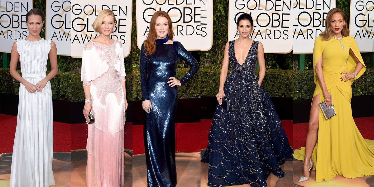 Golden Globe Awards 2016 Red Carpet  / The best dressed women Top 5.