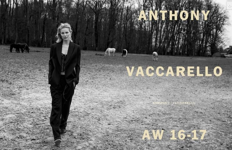 ANTHONY VACCARELLO FALL 2016 CAMPAIGN WITH EVA HERZIGOVA