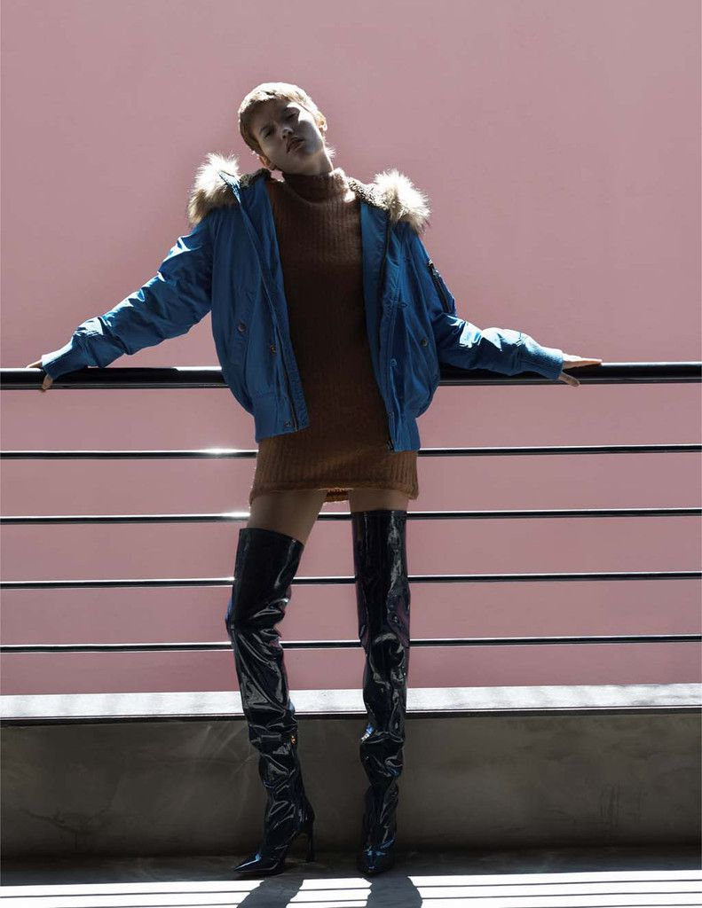 Fernanda Wears Jacket Diesel, dress Coven, boots Tufi Duek.