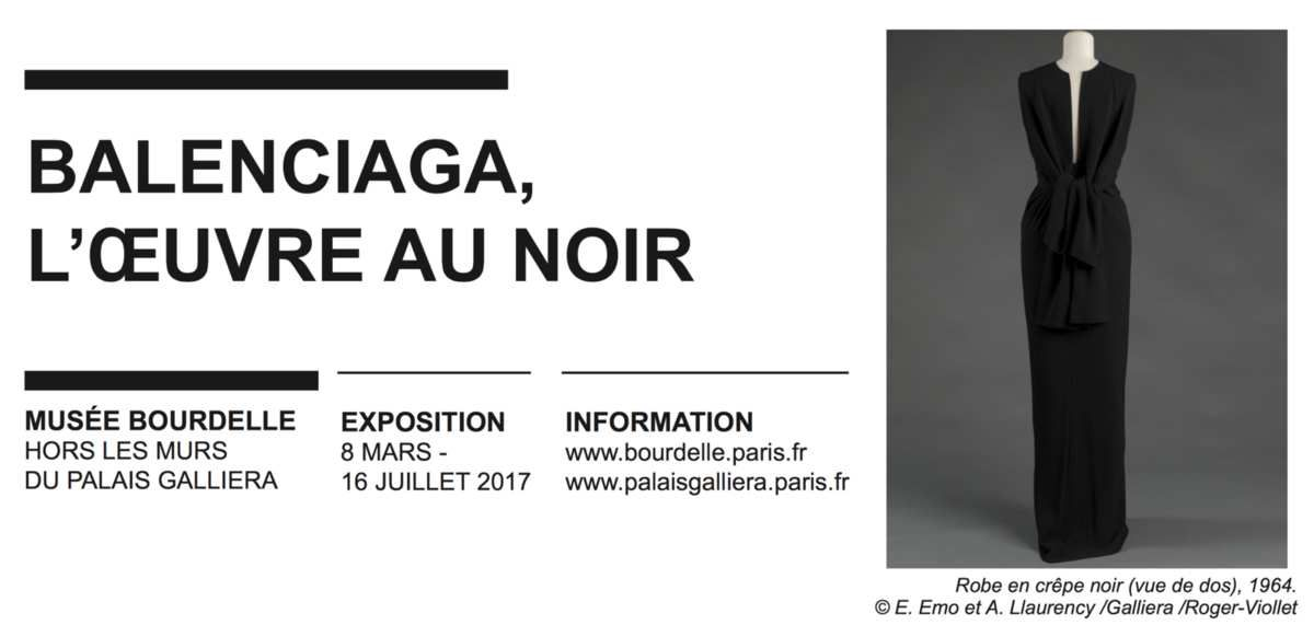 EXHIBITION IN PARIS / BALENCIAGA, L'OEUVRE AU NOIR at MUSEE BOURDELLE