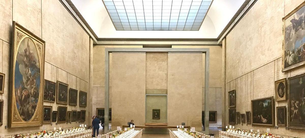 Salle des Etas, with Mona Lisa painting @ Musée du Louvre, Paris